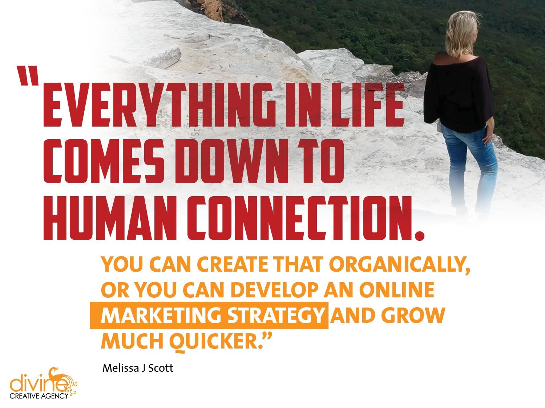 connection marketing, divine creative agency, graphic design, marketing, branding, website design, video, melissa j scott